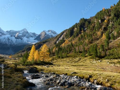 canvas print picture Herbst in den tiroler Bergen