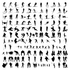 Set of Hundred Sports Silhouettes 3
