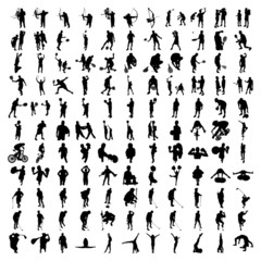 Set of Hundred Sports Silhouettes 2