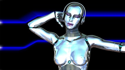 Dancing Robot Girl
