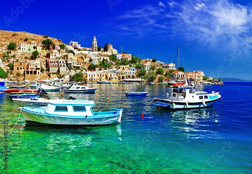 Papiers peints Cote pictorial Greece series- Symi island, Dodecanes