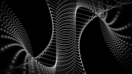 fantastic animation – particle object in motion – loop HD