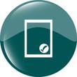 Edit document sign icon. Edit content button. website button