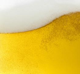 Bier welle mit Bierschaum