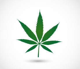 Cannabis icon shape