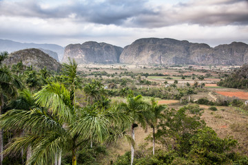 The valley of Vinales in Cuba. This is an UNESCO Heritage
