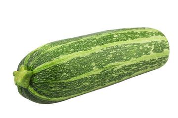 Fresh vegetable marrow. Isolated on white