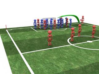 Footballer takes the corner. #2