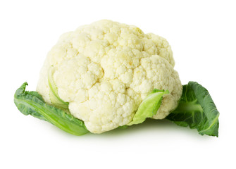 cauliflower  on the white background