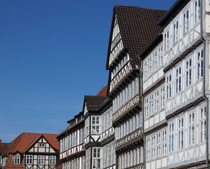 half-timbered houses in Hannover, Germany
