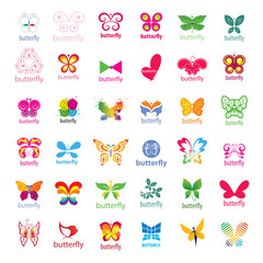 biggest collection of vector logos butterflies