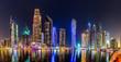 Leinwanddruck Bild - Dubai Marina cityscape, UAE