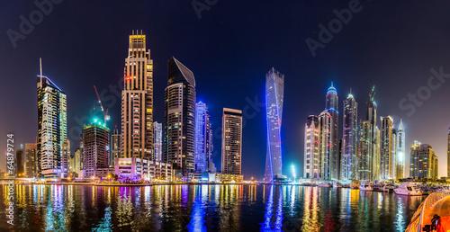 Aluminium Dubai Dubai Marina cityscape, UAE
