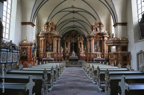 canvas print picture Klosterkirche Corvey Innenansicht
