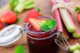 Erdbeer-Rhabarbermarmelade