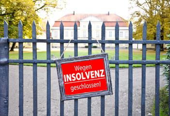 Wegen Insolvenz geschlossen