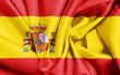 canvas print picture - Spanien Flagge