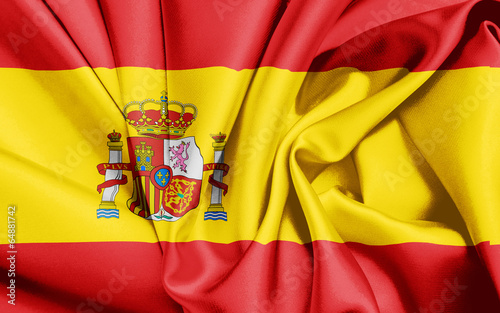 canvas print picture Spanien Flagge