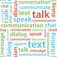 communication text seamless pattern