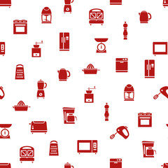 kitchen appliances and tools seamless pattern