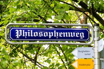 Philosphenweg - Straßenschild
