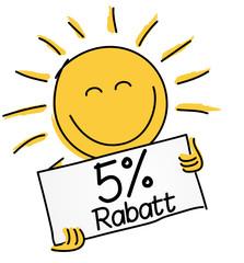 5 % Rabatt