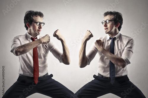 fighting businessman Plakat