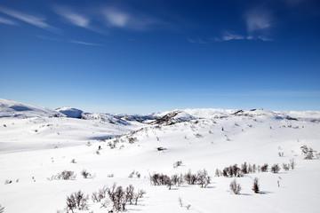 Winter landscape in Silkedalen