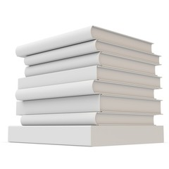 3d stack of blank books