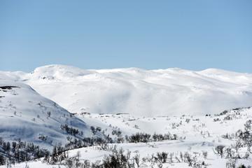 Winter landscape,Hardangervidda