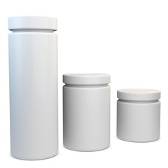 3d blank plastic containers