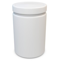 3d blank plastic container