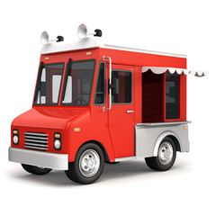 Red food truck