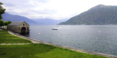 Lake Maggiore springtime panorama