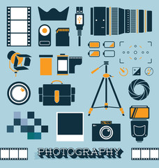 Vector Set: Photography and Camera Objects