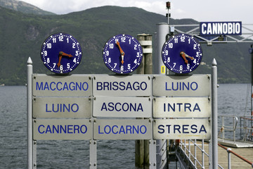 Cannobio ferry scheduled times color image