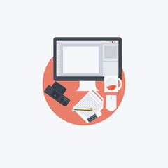 Flat Designer Illustration
