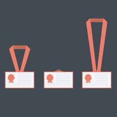 Vector flat badges