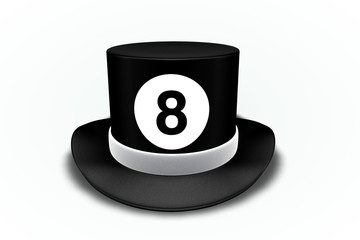 8 Ball Top Hat