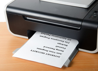 Printing internet security