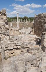 Руины терм в Саламисе. Северный Кипр