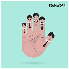 businessman concept,funny fingers sign