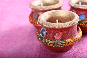 indian decorative candle pot