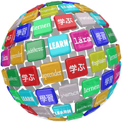 Learn Word Sphere International Languages Education World Cultur
