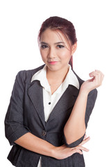 Asian business woman pose with confidence and smile