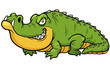 Vector illustration of Cartoon crocodile - 64891150