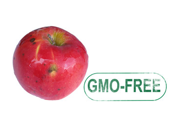 Aplle  gmo-free stamp
