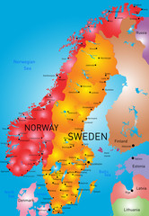 Norway and Sweden