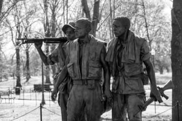 Vietnam Veterans Memorial Statue, Washington DC