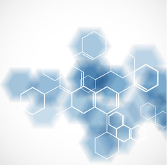 chemical and molecular concept template background, Vector illus